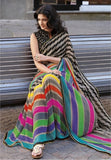 Linen Designer Digital Print Saree MF11271