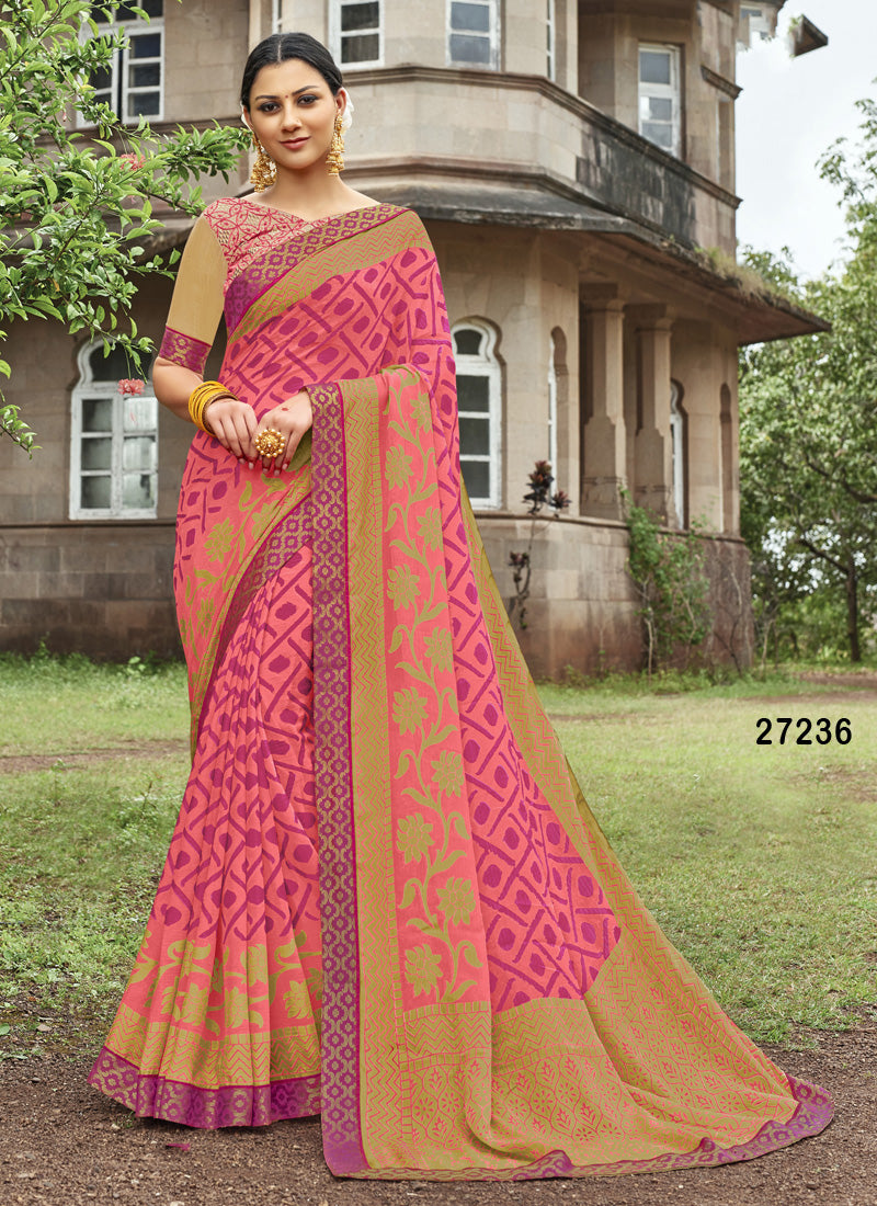 pink Colour Soft Silk Designer Saree MF30052
