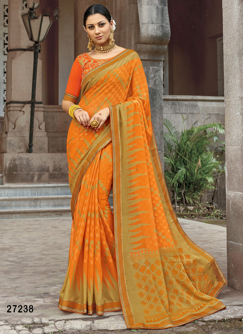 Yellow Colour Soft Silk Designer Saree MF30054