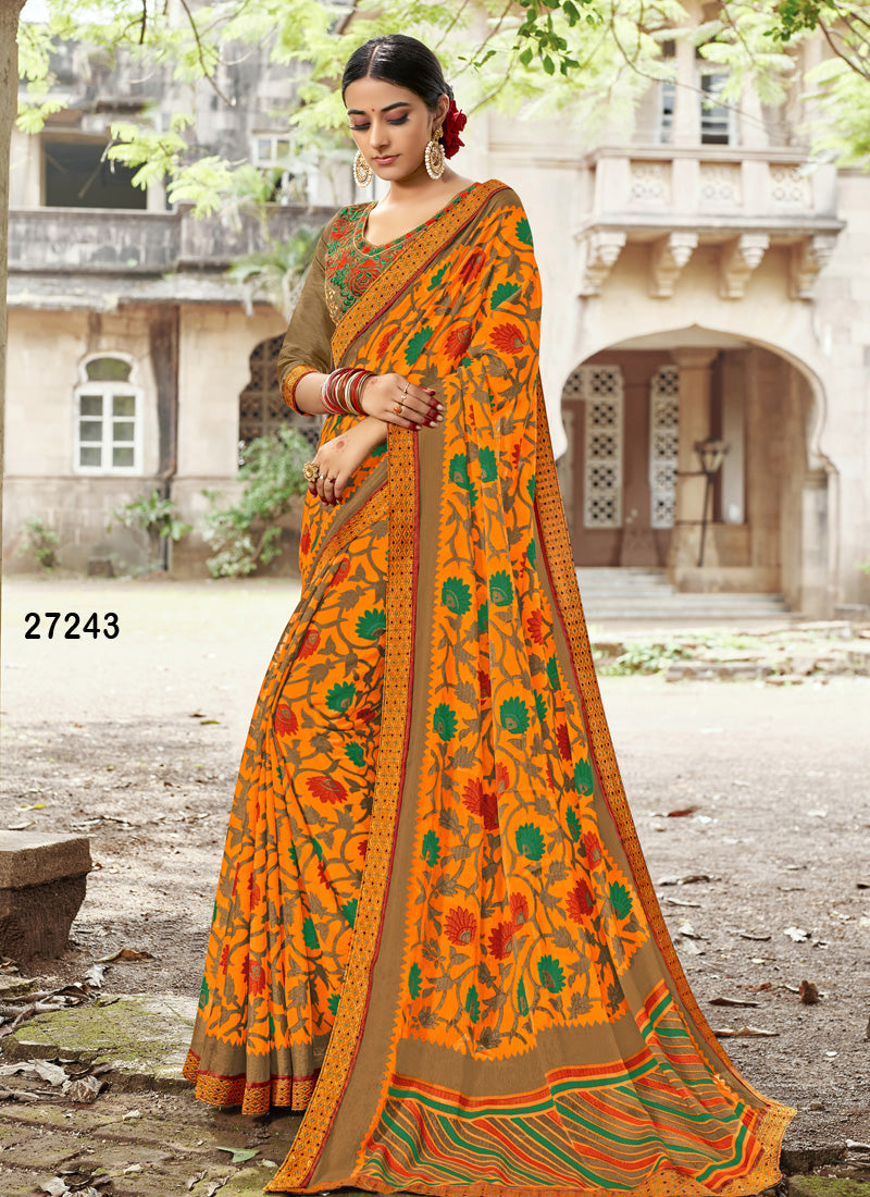 Yellow Colour Soft Silk Designer Saree MF30059