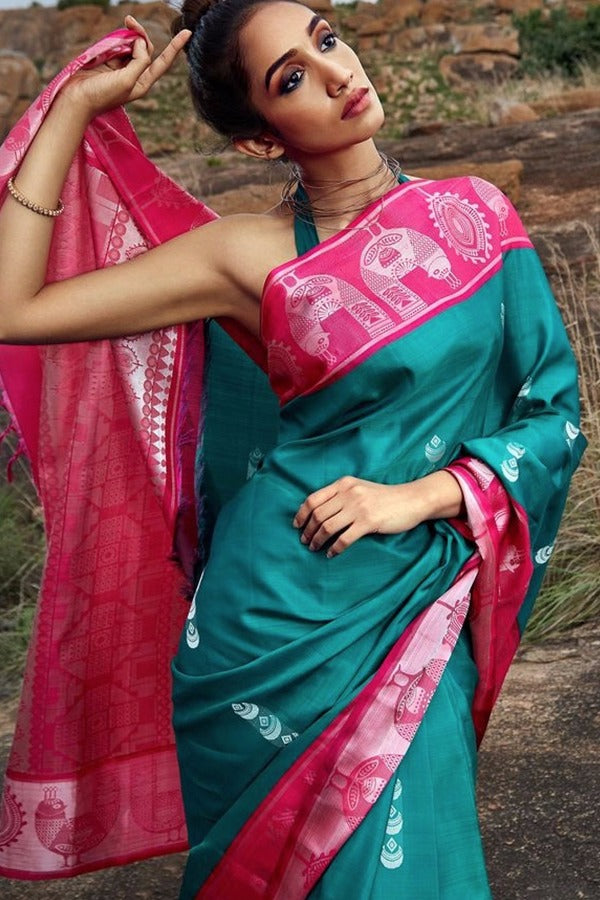 Beautiful Colour Soft Silk Designer Saree MF30079