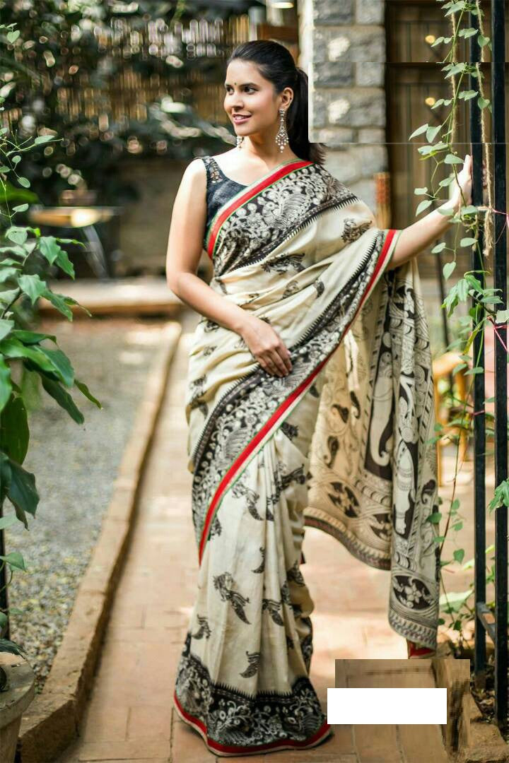 White Colour Soft Silk Designer Saree MF30160