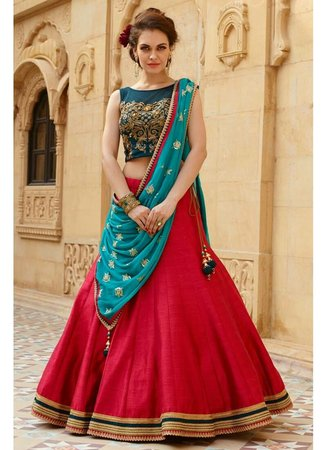 Roza Red Lehenga Choli MD001