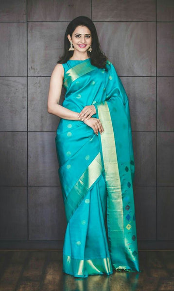 South Indian Soft Silk Designer Saree 6003