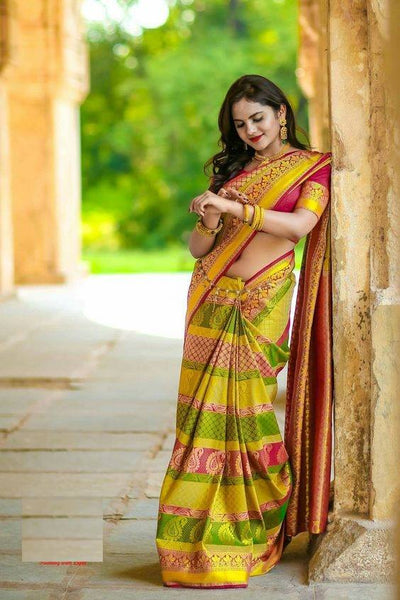 South Indian Soft Silk Designer Saree 6044