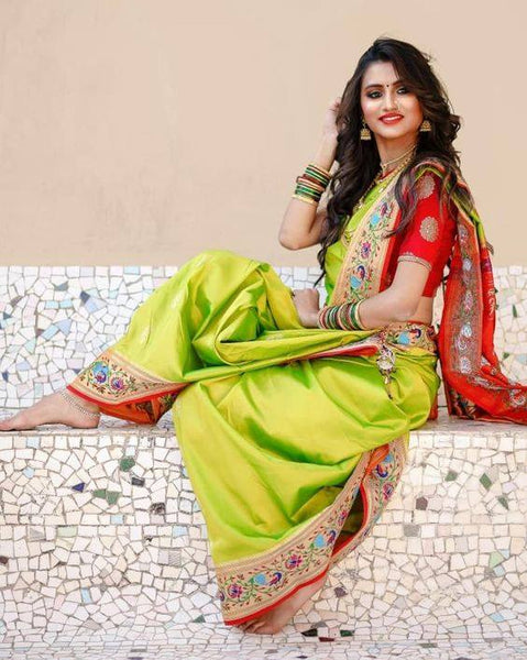 South Indian Soft Silk Designer Saree 6048