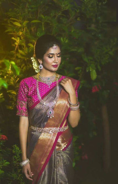 South Indian Soft Silk Designer Saree 6050