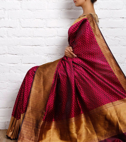 South Indian Soft Silk Designer Saree 6063