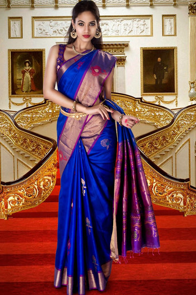 South Indian Soft Silk Designer Saree 6072