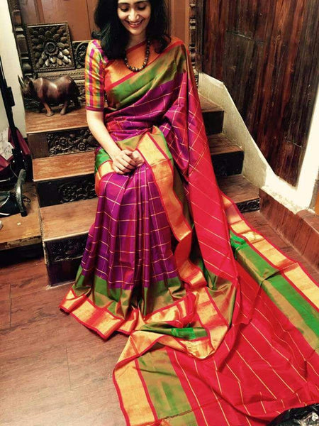 South Indian Soft Silk Designer Saree 6083