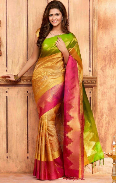 South Indian Soft Silk Designer Saree 6086