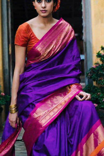 South Indian Soft Silk Designer Saree 6088