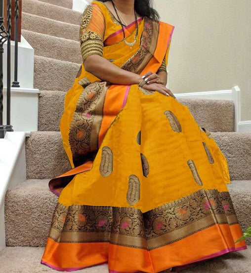 South Indian Soft Silk Designer Saree 6090