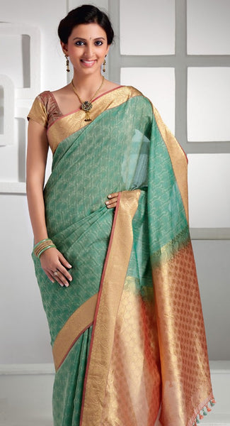 South Indian Soft Silk Designer Saree 6091