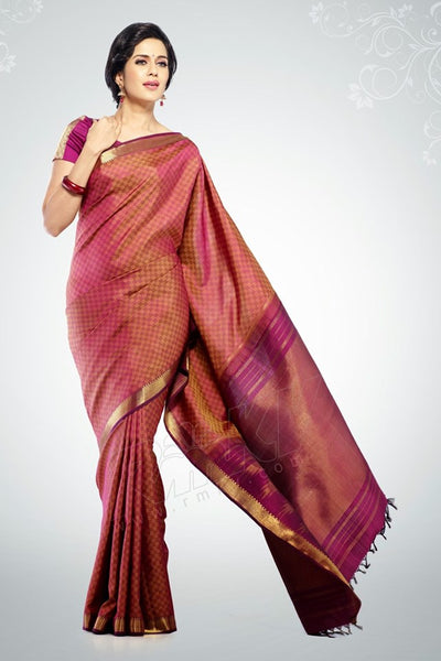 South Indian Soft Silk Designer Saree 6094