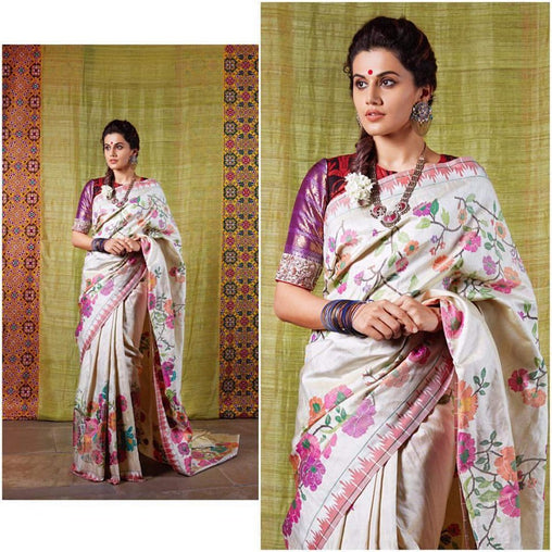 South Indian Soft Silk Designer Saree 6097