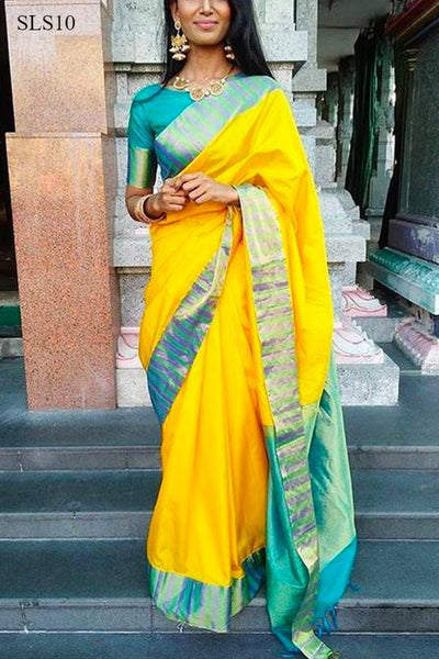 South Indian Soft Silk Designer Saree 6164
