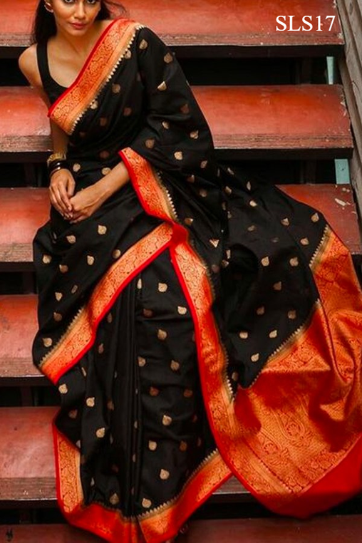 South Indian Soft Silk Designer Saree 6179