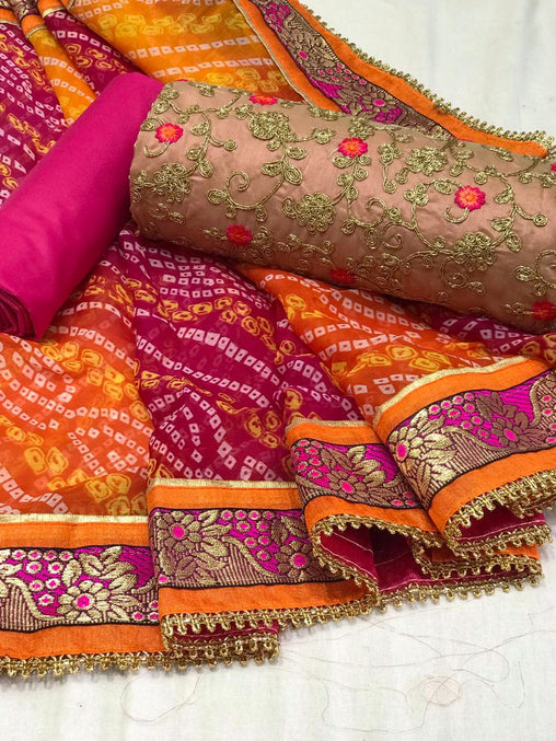 Pure Cotton Badhani Saree 6404