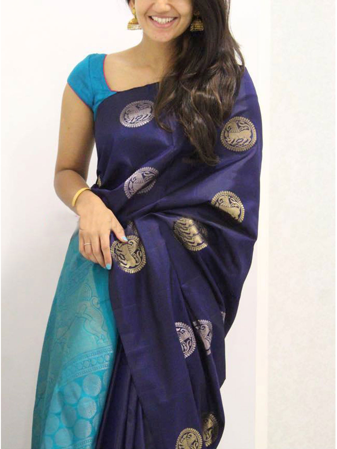 Blue  Colour Soft Silk Designer Saree MF984