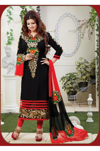 Black designer Embroidery work salwar suits  S0011