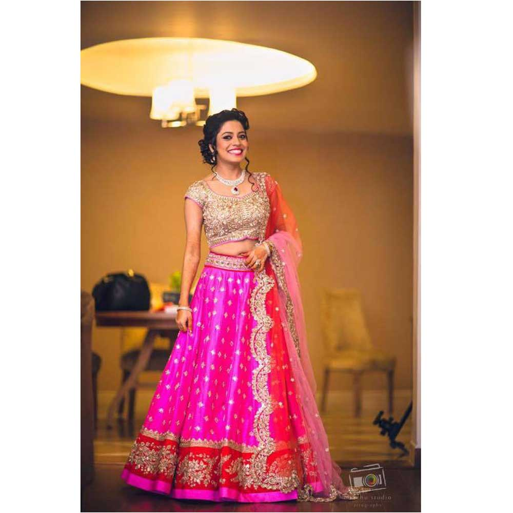 Pink Bindu Designer Embroidered Lehenga Choli LH001