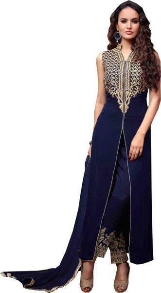 Awesome Blue Designer Salwar suit  S0008