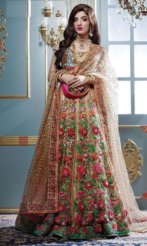 Heavy Multi Designer Embroidered Bridal Lehenga Choli LC304