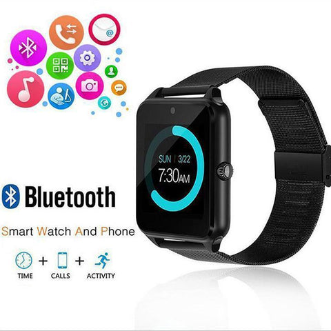 Z60 Steel Belt Smart Watch Bluetooth Smart Wear Card Phone Watch