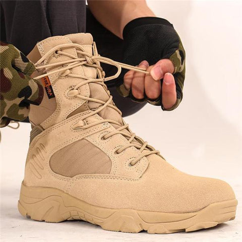 Outdoor Fashion Casual Solid Color High Tube Men Boots