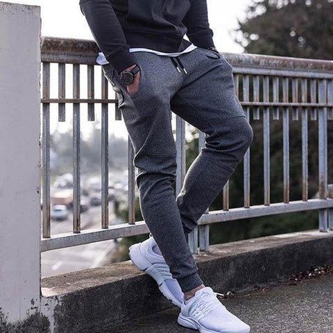 Men's Solid Color Sports Slim Jogger Pants