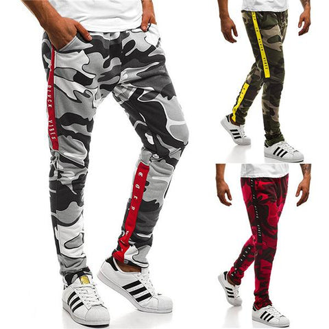 Men's Plus Size Slim Camouflage Fitness Pants