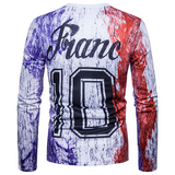 Fashion Splash Design Graffiti Wind Long Sleeve T-Shirt