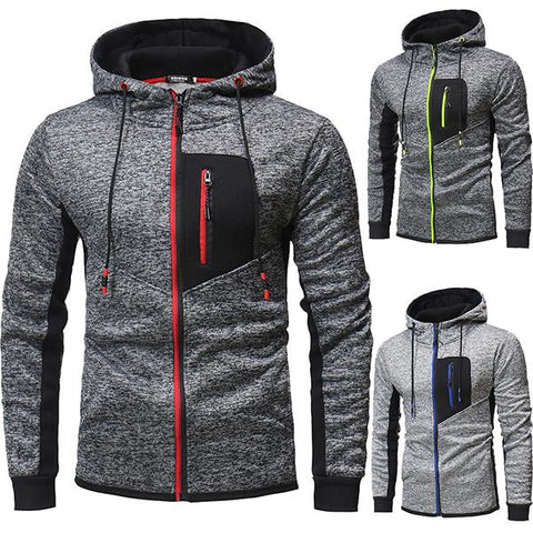 Men's Fashion Zipper Hooded Jacket