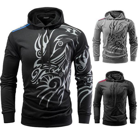 Men's Fashion Totem Print Hoodie
