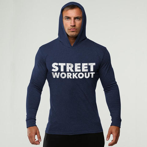 Street Fitness Cotton Long Sleeve Hoodie Sweatshirt