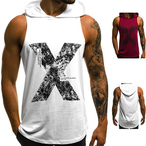 Fashion Fitness Hooded Short Sleeve Tank