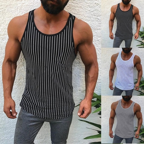 Men's Fashion Striped Slim Tank