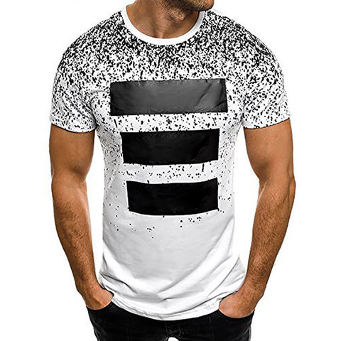 Men's Fashion Casual Printed Short-Sleeved T-Shirt