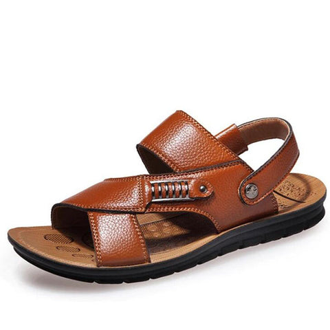 Men's Sandals Leather Beach Shoes