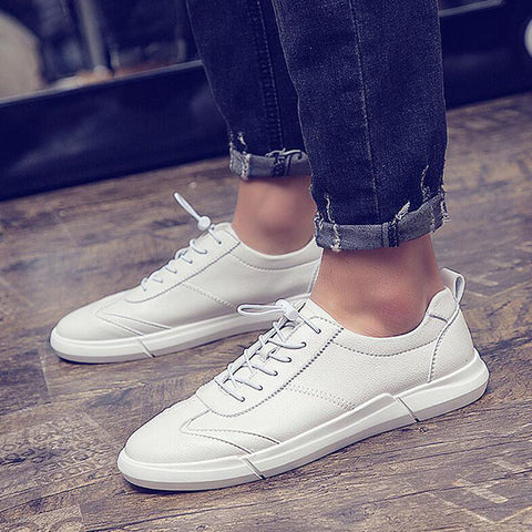 Men's Trend White Shoes Fashion Casual Shoes