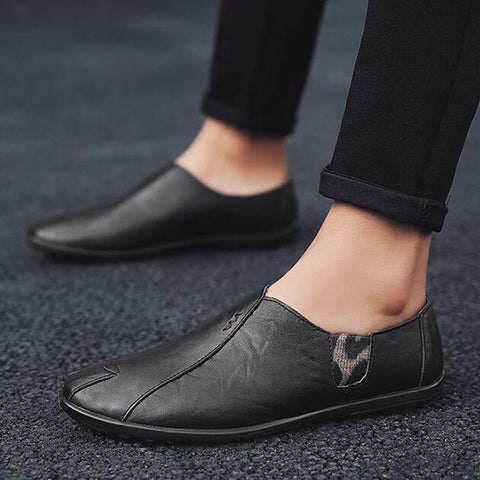 Men's Business Dress Shoes British Trend Casual Soft Bottom Shoes
