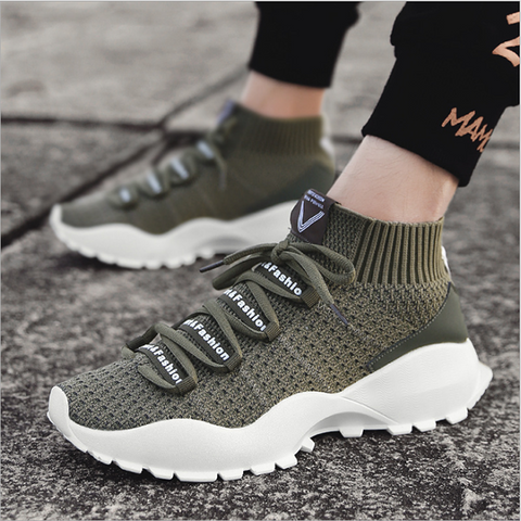 Men's Stretch Breathable Mesh Casual Sports Shoes