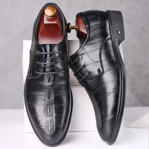 Men's Fashion Trend Business Casual Leather Shoes