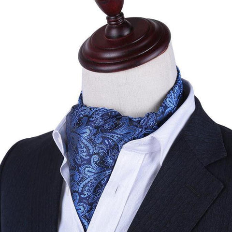 Men's Shirt Polyester Silk Color Neckline Scarf