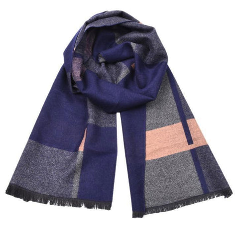 Autumn and winter yarn-dyed color long scarf