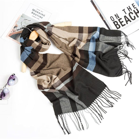 Wild mixed batch warm men's plaid scarf England
