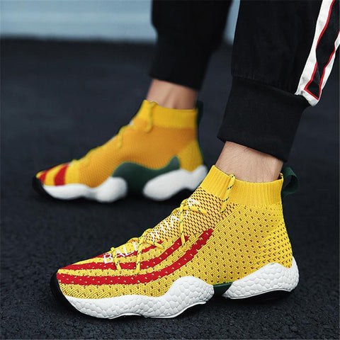 Fashion high-top breathable sneakers