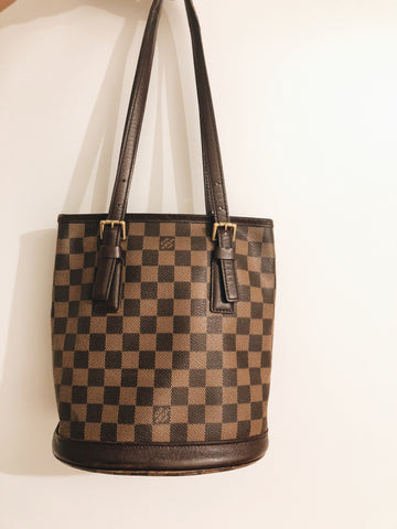Louis Vuitton Brown Damier Bucket