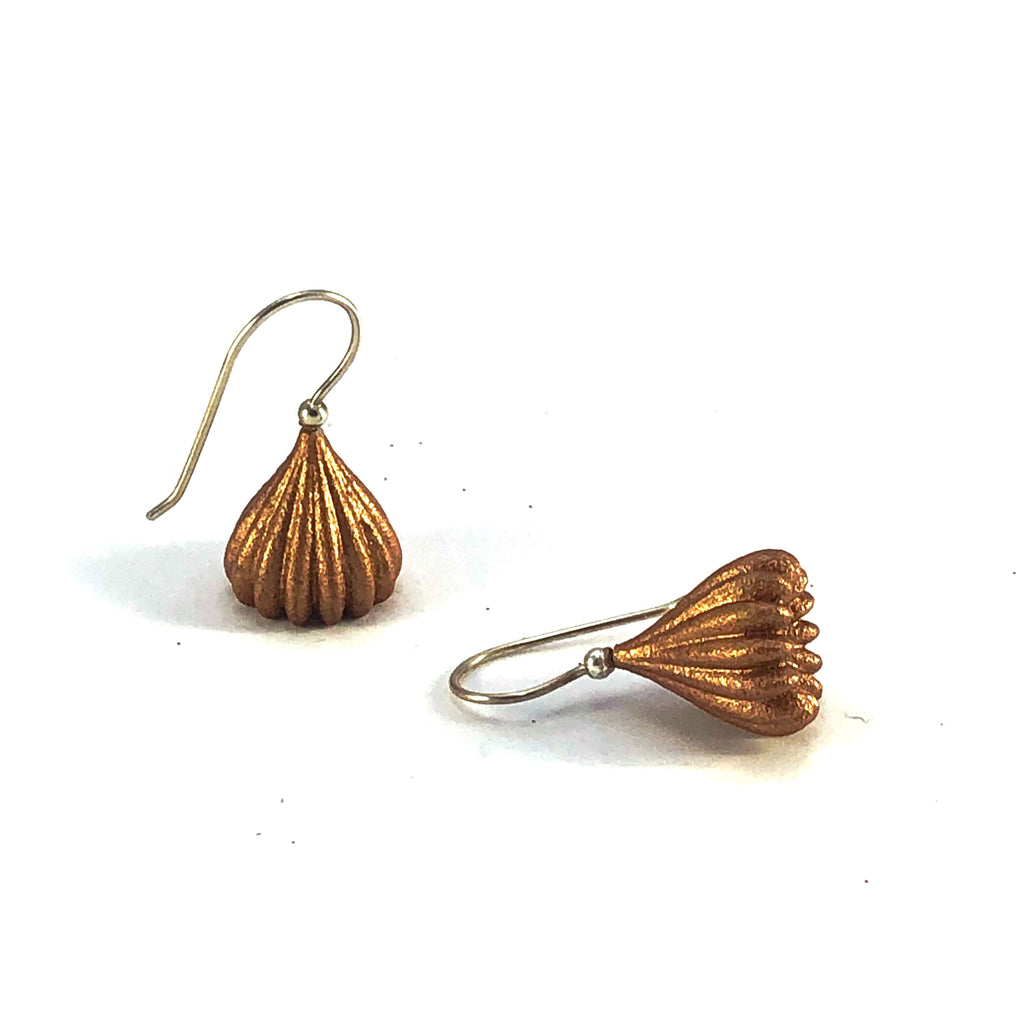 Sample Bronze Small Pod Earrings